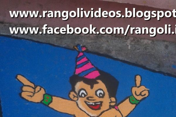 Happy New Year Rangoli 88