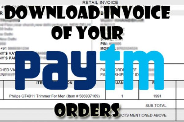 Download Invoice of your Paytm Orders