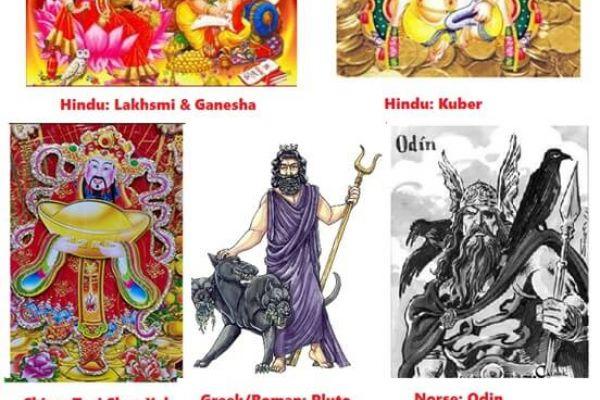 Mythology and money: Indian,Greek,Chinese,Roman,Norse
